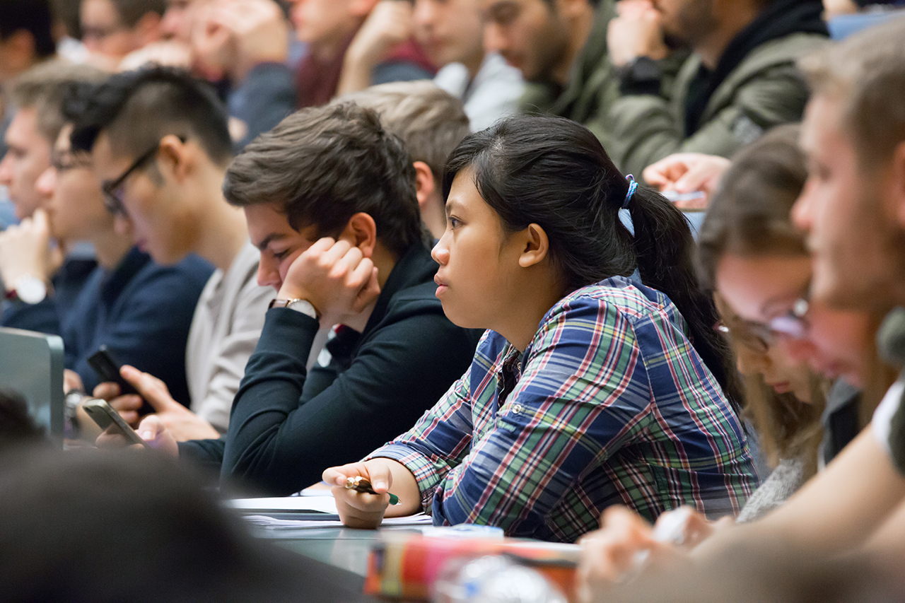 Students during a lecture